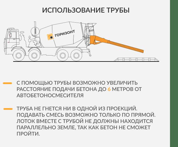 Использование трубы